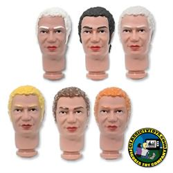 Custom Curly Hair Jack 8 inch Roto Molded Heads