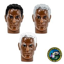 African American Male Heads for Type S Retro 8 inch male bodies (2020 FTC Versions)