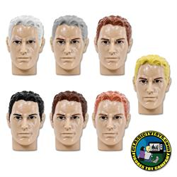 Regular Male Heads for Type S Retro 8 inch male bodies (2020 FTC Versions)