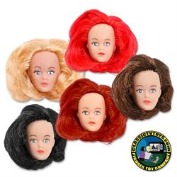 Custom Teen Female 6 inch Roto Molded Heads