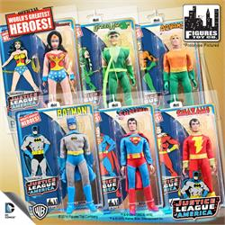 Justice League of America Special Edition 8 Inch Retro Figures