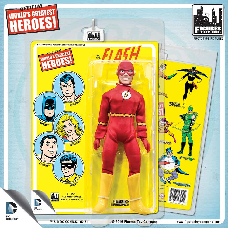 Like Toy Tv : Dc comics inch action figures with mego like retro cards