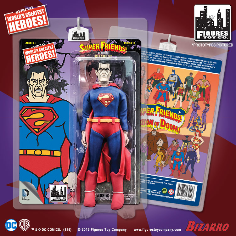 Super Friends Retro Style Action Figures Series 4 Bizarro by FTC