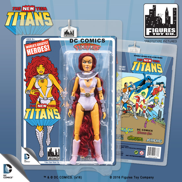 Teen Titans Toys Action Figures : The new teen titans retro inch action figures series