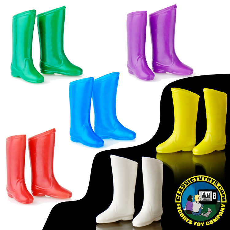 All 6 Colors 6 Pairs of Rubber Superhero Gloves for Retro Figures