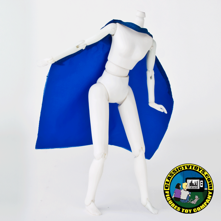 blue superhero cape female