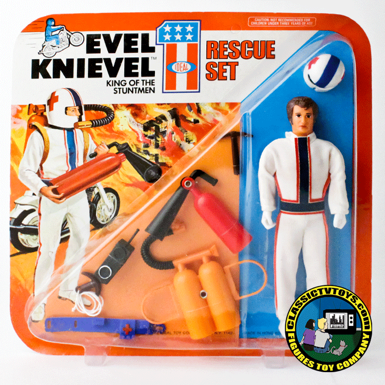 evel knievel rescue action figure by ideal 1975. Black Bedroom Furniture Sets. Home Design Ideas