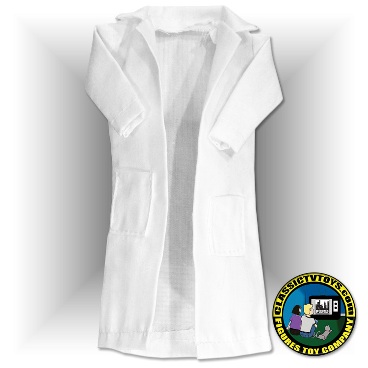 Extra Long White Lab Coat for 8 inch figures