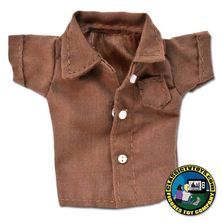 Brown short sleeved button down shirt for White shirt brown buttons