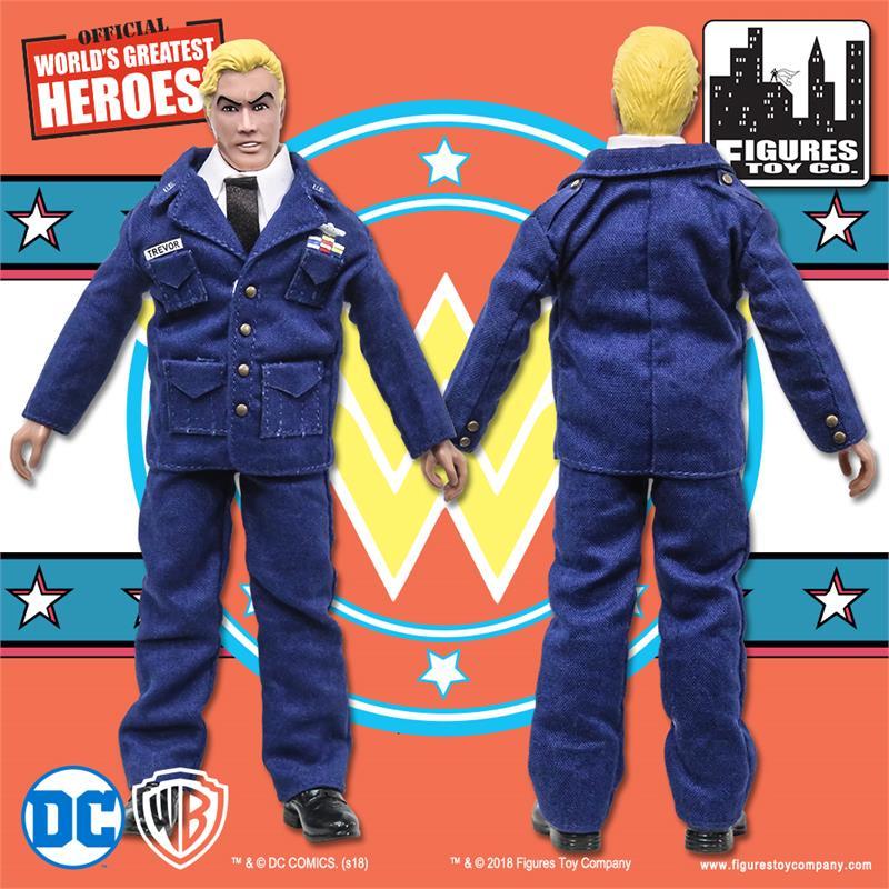 Loose in Factory Bag Steve Trevor Wonder Woman Retro Action Figures Series 2
