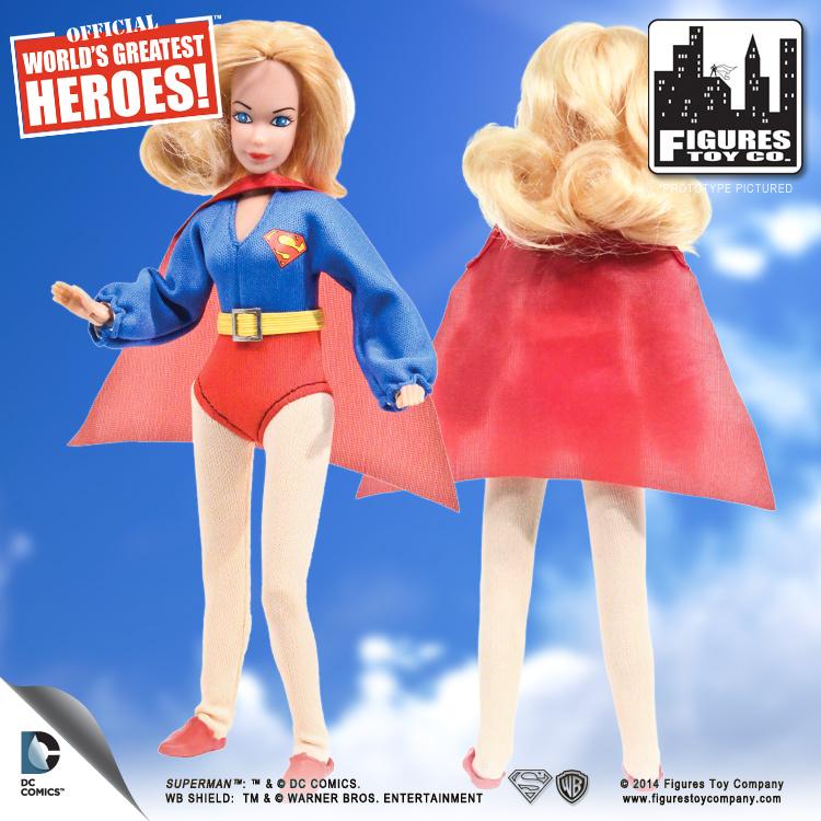 "DC Comics Super Girl Retro action figure  8/"" Series 1 SUPERMAN NEW LOOSE"