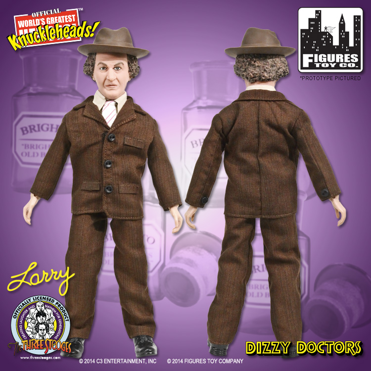The Three Stooges Dizzy Doctors Larry 8 Action Figure Figures Toy Co.