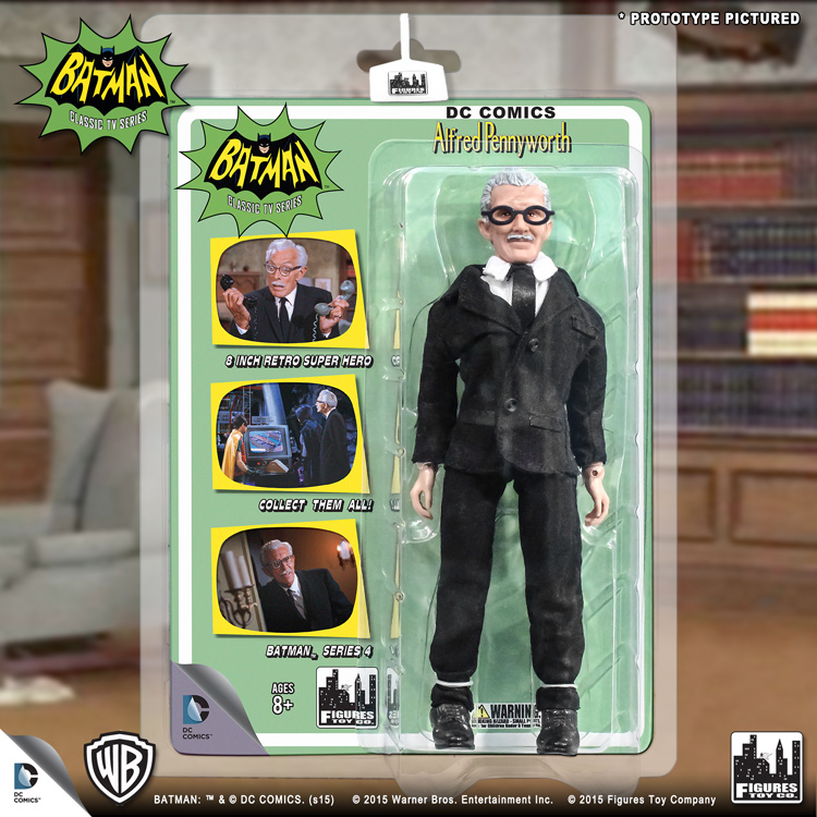Alfred Batman Classic TV Series Figures Series 4 Loose in Factory Bag