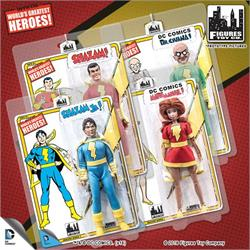 Billy Batson Shazam Retro 8 Inch Action Figures Series Loose in Factory Bag