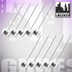 Set of 10 Figures Toy Company Zip Ties
